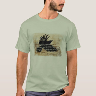 Quoth the Raven Edgar Allen Poe Nevermore poem T-Shirt