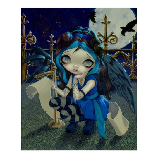 Quoth the Raven Nevermore ART PRINT gothic fairy
