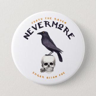 Quoth the Raven Nevermore - Edgar Allan Poe Button
