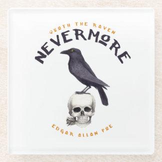 Quoth the Raven Nevermore - Edgar Allan Poe Glass Coaster