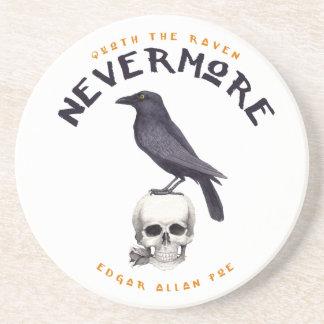 Quoth the Raven Nevermore - Edgar Allan Poe Sandstone Coaster
