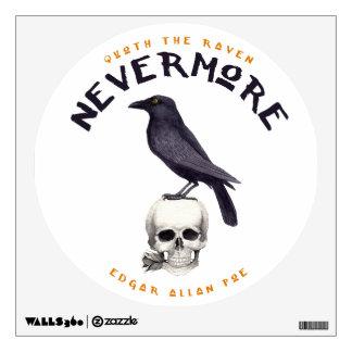 Quoth the Raven Nevermore - Edgar Allan Poe Wall Sticker