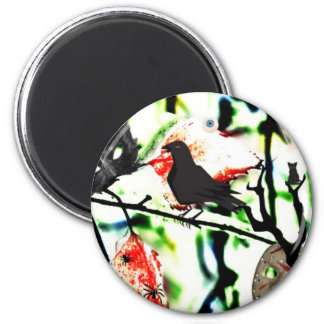 Quoth the Raven Nevermore, Halloween Collage Magnet