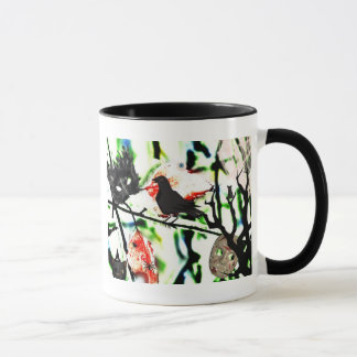 Quoth the Raven Nevermore, Halloween Collage Mug