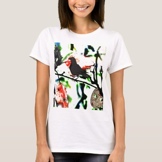 Quoth the Raven Nevermore, Halloween Collage T-Shirt