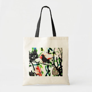 Quoth the Raven Nevermore, Halloween Collage Tote Bag