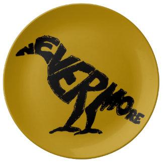 Quoth the raven: NEVERMORE! Porcelain Plates