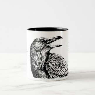 "'Quoth the Raven, ""Nevermore""', Two-Tone Coffee Mug"