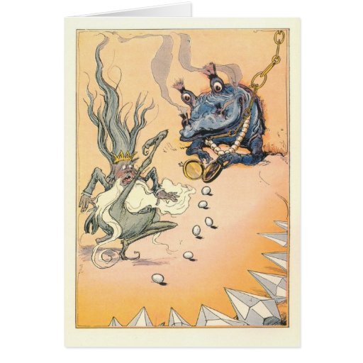 Quox takes away Ruggedo's Magic, and rolls eggs Greeting Card