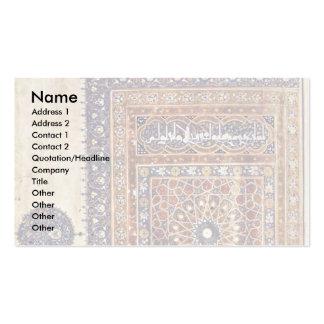 Quran del ornamento de la escena de Arghã N Shâh Tarjetas De Visita