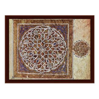 Qur'An Scene Ornament By Arabischer Maler Um 1180 Postcard