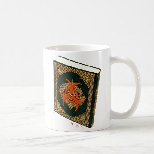 Quran With Warning Sticker Coffee Mug