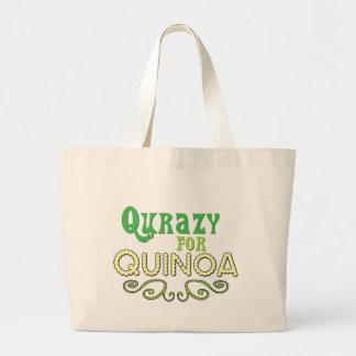 Qurazy for Quinoa © - Funny Quinoa Slogan Large Tote Bag