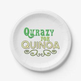 Qurazy for Quinoa © - Funny Quinoa Slogan Paper Plate  sc 1 st  Zazzle & Funny Slogan Plates   Zazzle