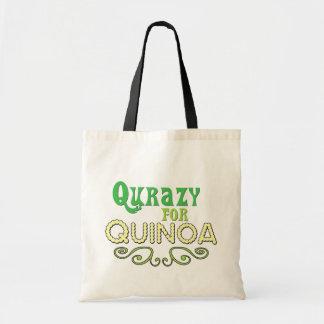 Qurazy for Quinoa © - Funny Quinoa Slogan Tote Bag