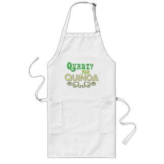 Qurazy para el © de la quinoa - lema divertido de  delantal
