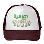 Qurazy para el © de la quinoa - lema divertido de  gorros