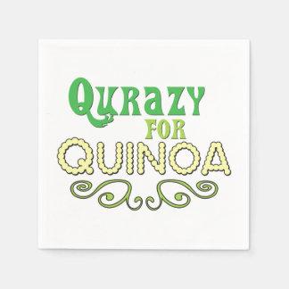 Qurazy para el © de la quinoa - lema divertido de servilleta desechable