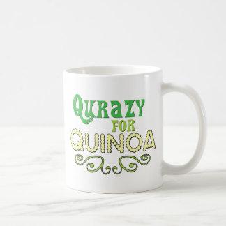 Qurazy para el © de la quinoa - lema divertido de taza básica blanca