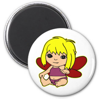 Qute Baby Fairie Girl 2 Inch Round Magnet