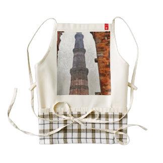 Qutub Minar framed by brick arch Zazzle HEART Apron