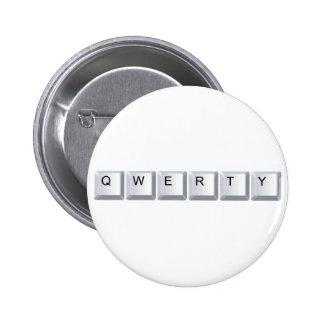 Qwerty 2 Inch Round Button