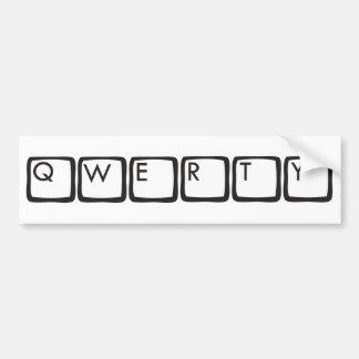 qwerty bumper sticker