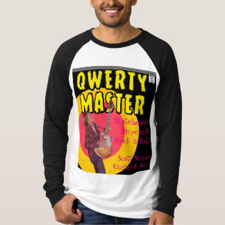 Qwerty Master Playing Guitar Comic Book T-Shirt