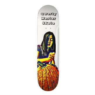 Qwerty Master Skateboards--Carving Pumpkins Skate Deck