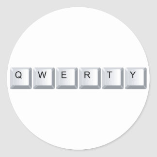 Qwerty Round Stickers