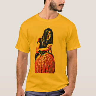 Qwerty Tea Shop--Carving Pumpkins T-Shirt