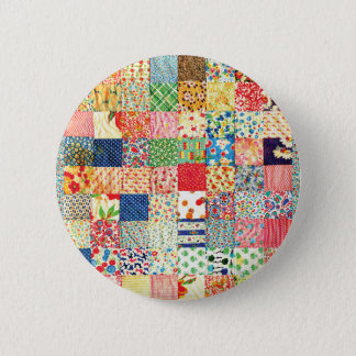 QWL Patchwork Quilt COLORFUL PATTERN BACKGROUND HO Button