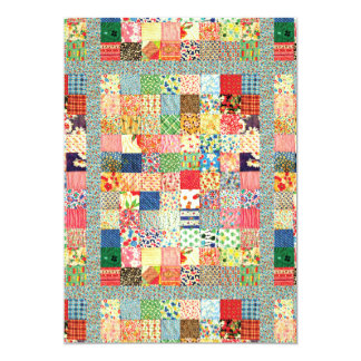 QWL Patchwork Quilt COLORFUL PATTERN BACKGROUND HO Card