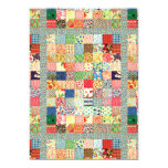 "QWL Patchwork Quilt COLORFUL PATTERN BACKGROUND HO 5"" X 7"" Invitation Card"