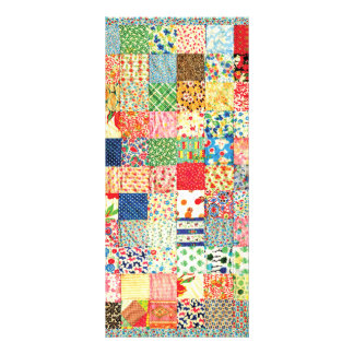 QWL Patchwork Quilt COLORFUL PATTERN BACKGROUND HO Custom Rack Cards