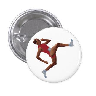 QWOP Goofy Track Runner Pinback Button
