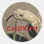 R0008 Rattlesnake Round Sticker