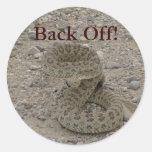 R0009 Prairie Rattlesnake coiled Stickers