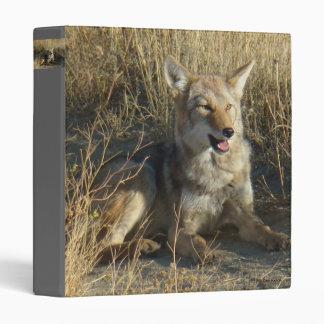 R0018 Coyote Laying 3 Ring Binder