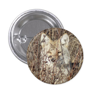 "R0021 Coyote ""Watching You"" 1 Inch Round Button"