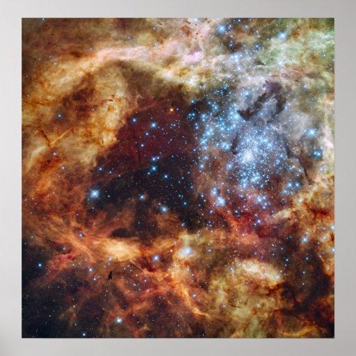 R136 Super Star Cluster Tarantula Nebula NGC 2070 Print