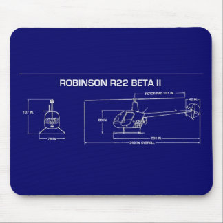 R22 Helicopter Mouse Pad