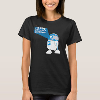 R2-D2 Happy Birthday Projection T-Shirt
