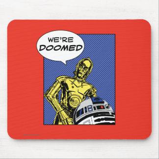 R2-D2 y C-3PO cómicos Alfombrilla De Ratón