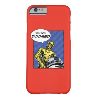 R2-D2 y C-3PO cómicos Funda Barely There iPhone 6