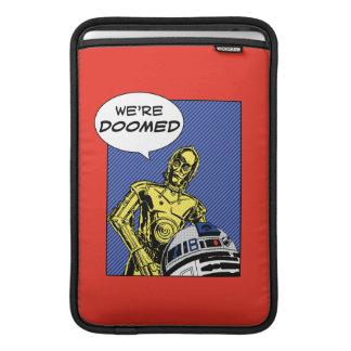 R2-D2 y C-3PO cómicos Fundas MacBook