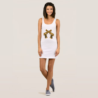 R2R Gold Gun Sleeveless Dress