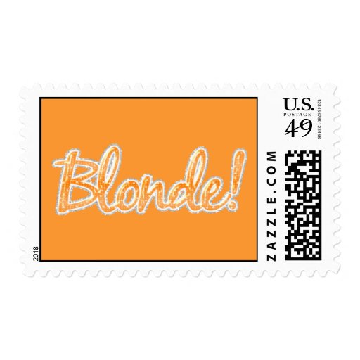 r351 Blonde orange glitter Postage