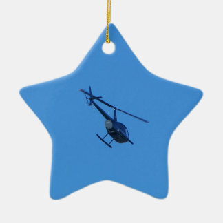 R44 Helicopter Ceramic Ornament