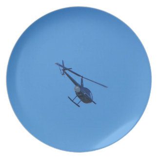 R44 Helicopter Melamine Plate